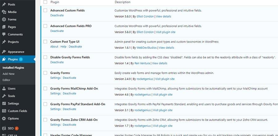 List of WordPress plugins